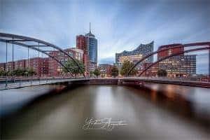 Blickauf die Elbphilharmonie in Hamburg