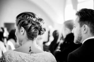 Frisur der Braut im Standesamt Altona